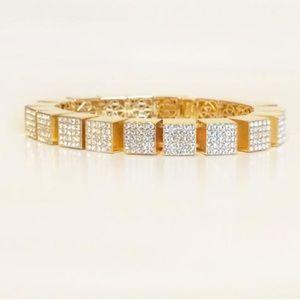 Eddie Borgo Gold Pave Cube Bracelet 💎